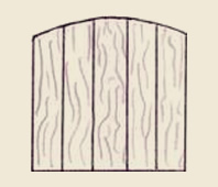 Convex Wood Fence Board Style