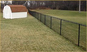 Black Vinyl Covered Chain Link Fence