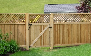 Residential Cedar Wood Fence
