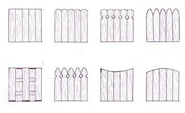 Wood Fence Board Styles