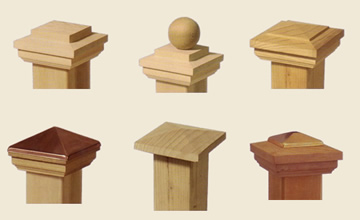 Wood Post Cap Styles