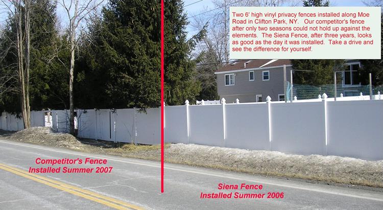 Compare Siena Vinyl Fence