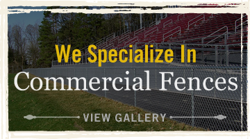 We Specialize in Commercial Fences. View Gallery.