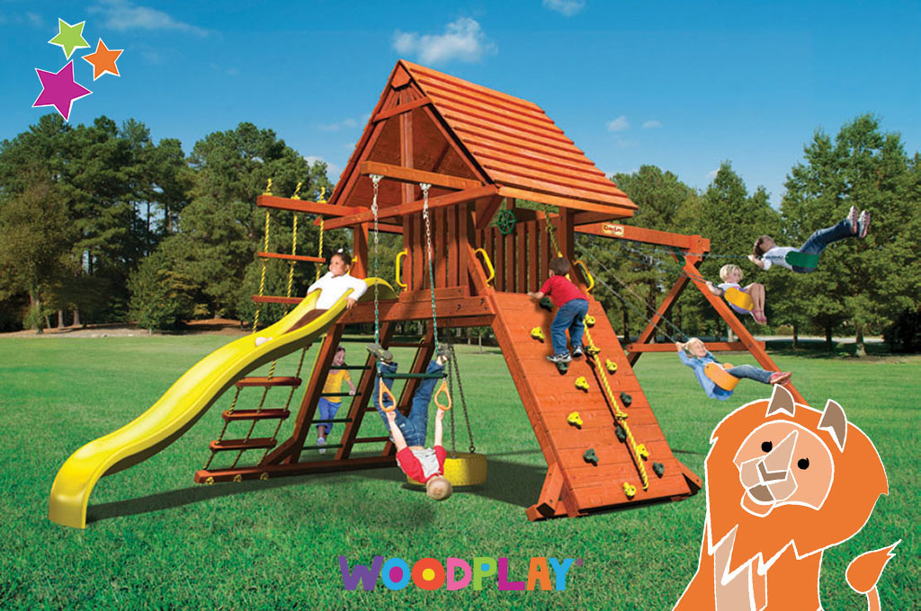Rainbow Play Systems Gallery Troy Custom Swing Sets